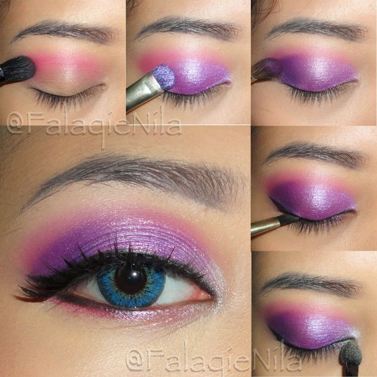 The Brown Skinned Girl's Diary: Purple Eye Makeup Inspired by Elsa the Ice Queen