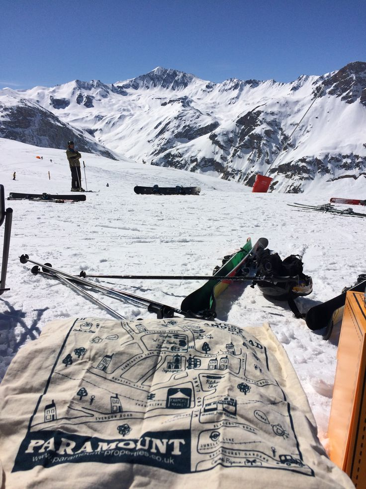 When the Paramount bag went to Tignes and Val d'Isere.