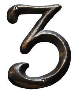 Spanish Revival House Numbers