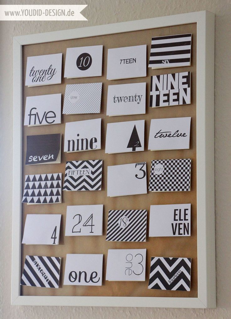 Adventskalender Freebie – Black and White – DIY