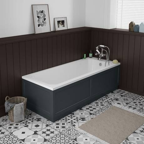 Chatsworth Graphite 1700 Traditional Front Bath Panel Profile Image