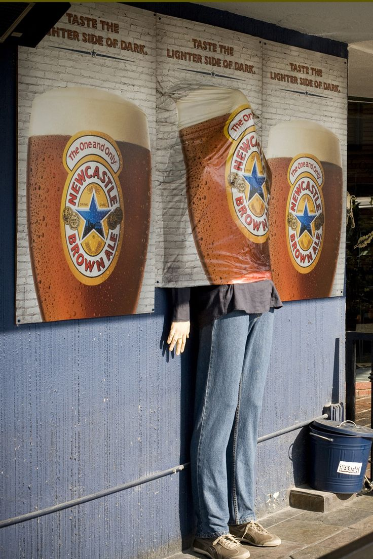 Creative Advertising Campaigns for Newcastle Brown Ale - Creative Guerrilla Marketing