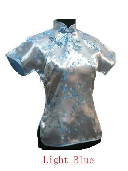 40% off Chinese Traditional Cheongsam Blouse Light Blue