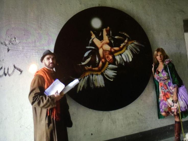 La gallerista Olimpia Orsini e Mataro da vergato