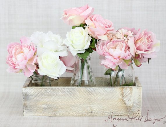 Centerpiece Vase Shabby Chic Barn Decor: Centerpieces Vases, Chic Planters, Weddings Centerpieces, Shabby Chic, Rustic Chic, Planters Boxes, Wedding Centerpieces, Items Numbers, Planter Boxes