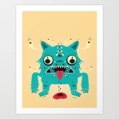 Creature n0#33 Art Print by Catalin Anastase http://society6.com/product/creature-n033_print#1=45