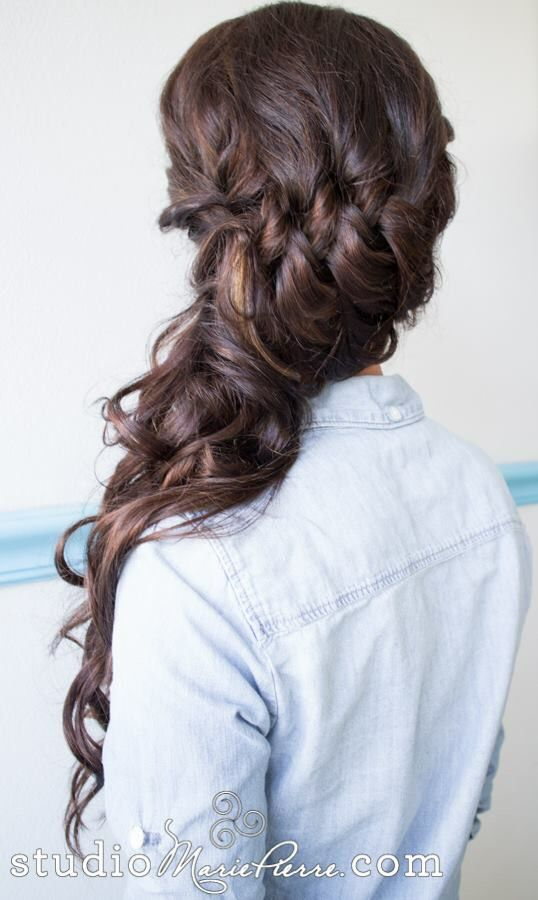 Soft braided off to the side updo
