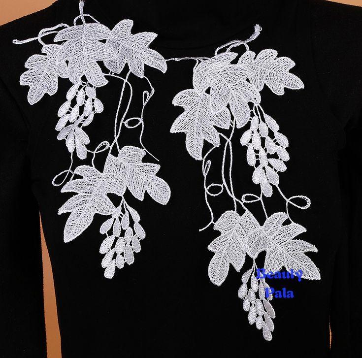 10 пар 12 см x 27 см воротник аппликации вечернее платье декольте венеция кружева для DIY швейные аппликация планки для украшения одежды, принадлежащий категории Кружево и относящийся к Для дома и сада на сайте AliExpress.com | Alibaba Group