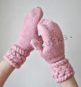 Knitted Lady mittens