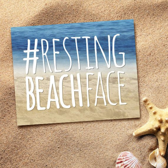 Resting Beach Face Digital 8x10 Printable Poster by ALittleLeafy