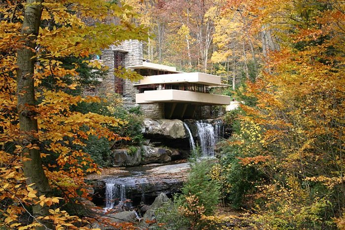 Falling water by Frank Lloyd Wright... really love this.