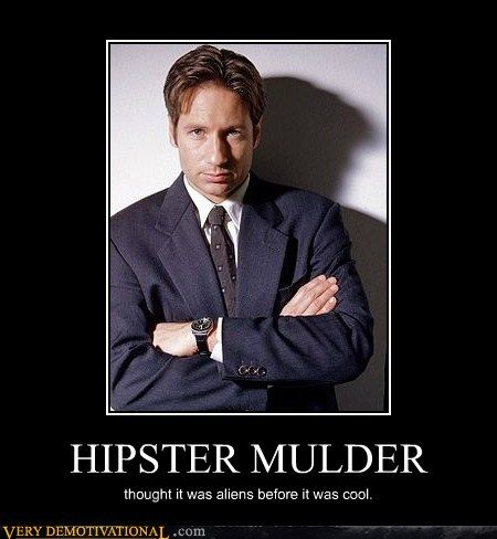 The X-Files - Hipster Mulder -Still the hottest nerd ever.