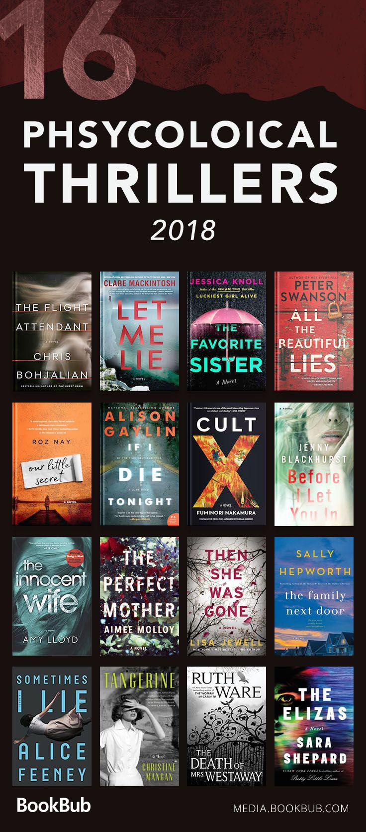 16 Creepy Psychological Thriller Books To Read For Adults And Young Adults These Books Feature Myst Book Club Books Thriller Books Psychological Books To Read