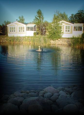 The sound of the water fountain just outside your cabin seems to take you to another place.