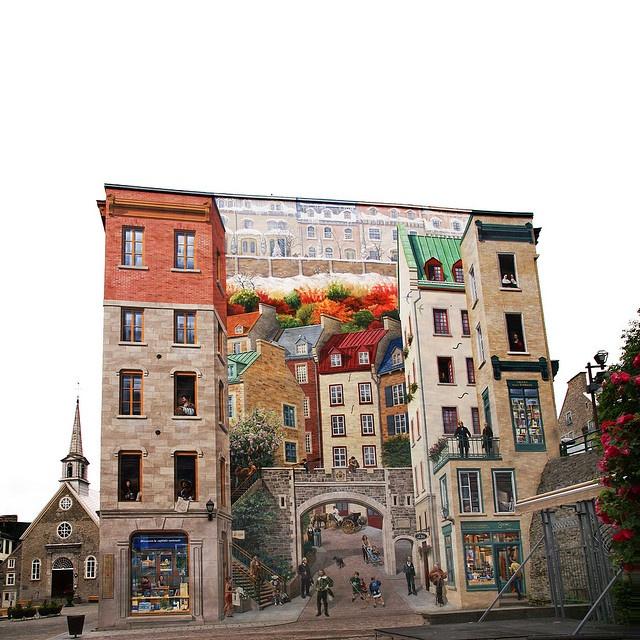 Quebec city 4 seasons mural definitely worth viewing large for 4 seasons mural
