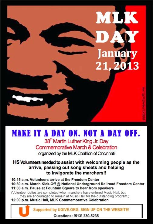In Cincinnati? Volunteer for MLK Day, we still need 20