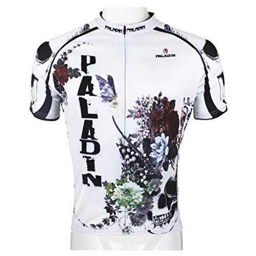 PaladinSport Mens Rose Skull Pattern Short Sleeve Cycling Jersey and  Breathable Shorts Set Jersey Size XL   You can get additional detai… 3f96e710b