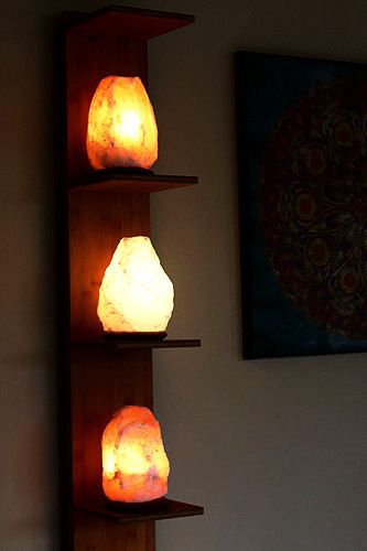 Get Three Himalayan Salt Lamps and One FREE Natural Candle Holder - (Free shipping)