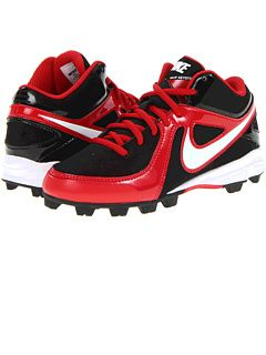 Nike Kids Mvp Keystone 3 4 Bg Toddler Little Kid Big Kid Black White  Varsity Red,