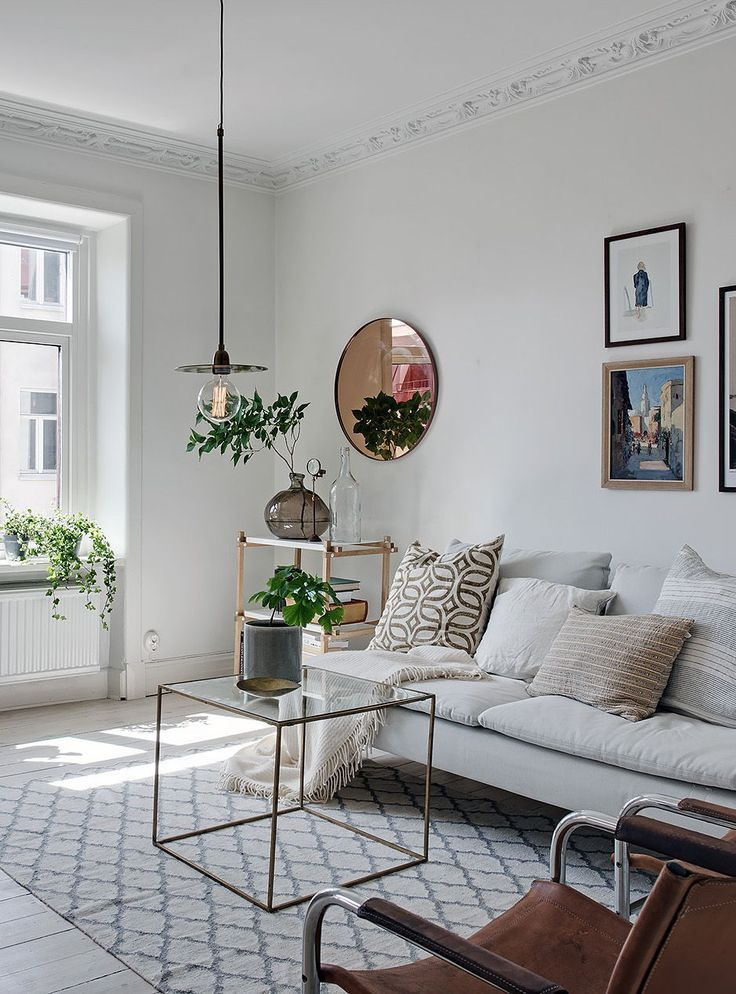 Living Room : Light Filled Apartment In White Via Coco Lapine Design Blog