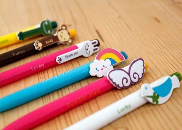 Дешевое Симпатичные прекрасный мультфильм животных форма головы стационарный клип шариковая ручка ребенок подарок, Купить Качество Шариковые ручки непосредственно из китайских фирмах-поставщиках:                    Цвет чернил: синий                           --------------------------------------------------------