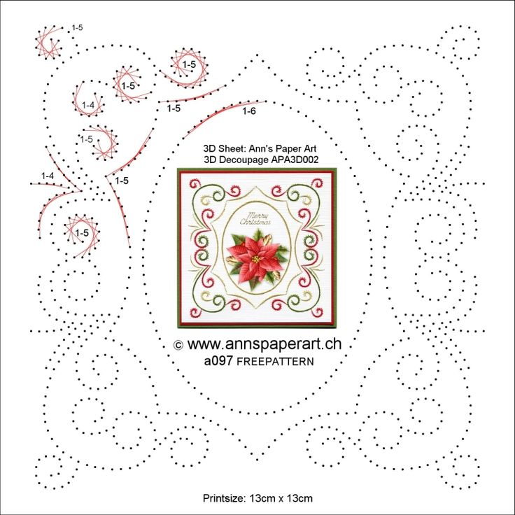 Free pattern a097 available from  https://www.facebook.com/annspaperartstitchingpatterns