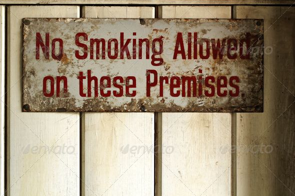 Vintage rusted No smoking poster