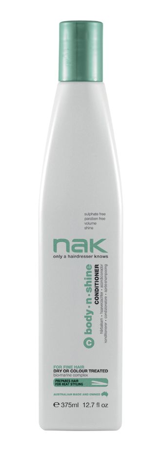 nak body.n.shine conditioner / designed for fine hair - dry or colour treated #sulphatefree #parabenfree #volume #shine