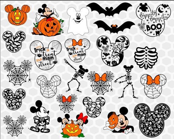 HUGE Disney Halloween SVG Bundle, Mickeys Not So Scary ...