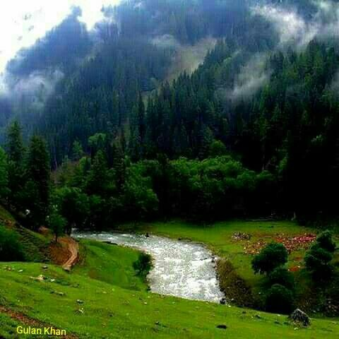 Fantastic cloudy weather in Neelum valley Azad Kashmir Pakistan