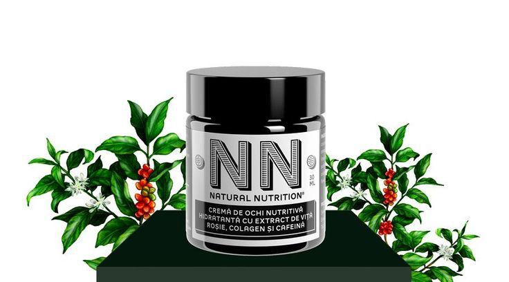 Crema de ochi nutritiva hidratanta cu extract de vita rosie, colagen si cafeina (30 ml)