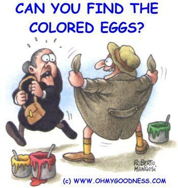 Humor Easter Jokes | Can You Find The Colored Eggs?