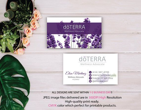 Doterra Business Card Custom Doterra Card Lavender Card