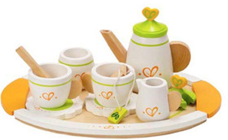 Testel fra Hape Toys - et sæt teservice til to personer. Inviter din bedste ven på en kop varm og dejlig te, som I kan drikke, mens I hygger og snakker. Det perfekte testel til ethvert legekøkken.<br><br>Indeholder bl.a: tekopper, tepose, kande, kagefad, sukkerskål og mælkekande.<br> <br>Materiale: Træ.<br><br>Anbefalet alder: Fra 3 år.<br>