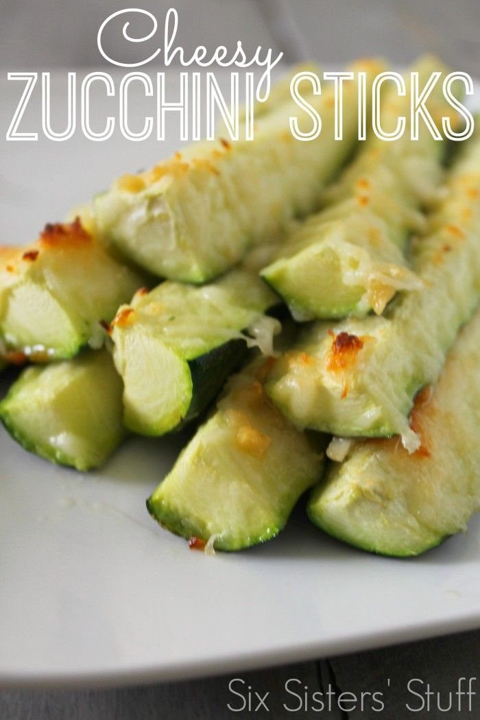 Cheesy Zucchini Sticks from Six Sister's Stuff - great summer food.