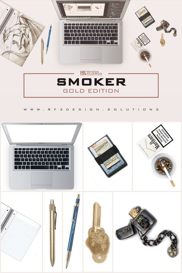 Smoker: Gold Edition by RF 3Design Solutions on Creative Market