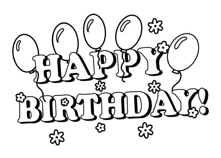 Verjaardag Kleurplaten Printables Happy Birthday Coloring Pages Happy Birthday Printable Birthday Coloring Pages