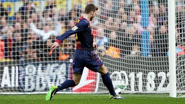 Gerard Piqué, FC Barcelona | 2013-02-10 BARCELONA 6-1 GETAFE.