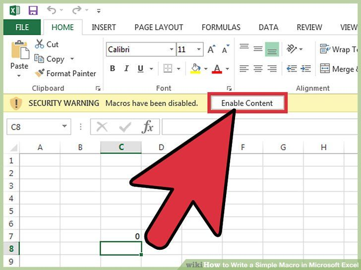 How To Write A Simple Macro In Microsoft Excel With Pictures Microsoft Excel Excel Macros Excel