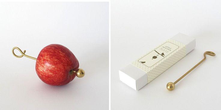 #Apple #Bird #Feeder - #Gardenista: From Scandinavian designers Ahnlund-Karlen, an #Apple #Holder to #Feed #Birds has a screw-on brass ball to hold a piece of fruit in place. It is $35 NZ from Garden Objects.