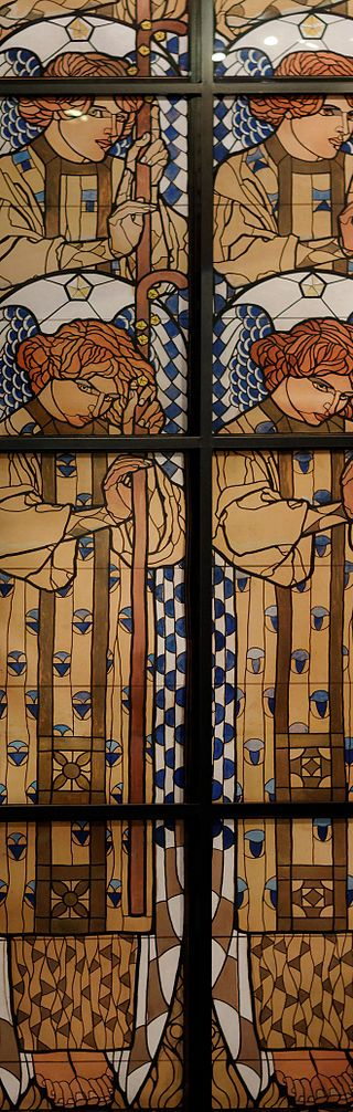 Koloman Moser Design for the angel window Otto Wagner Church - Koloman Moser — Wikipédia                                                                                                                                                                                 Plus