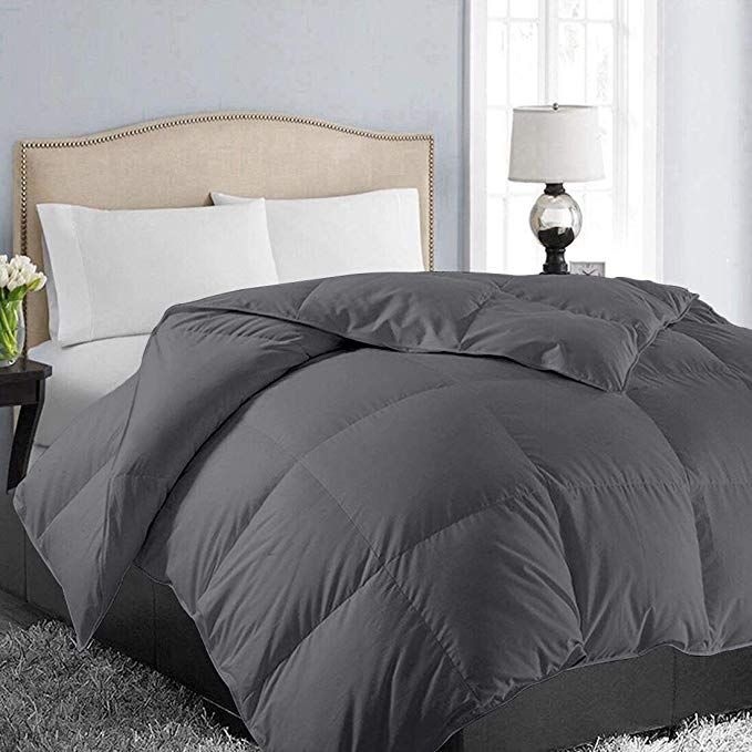 Amazon Com Easeland All Season Twin Size Soft Quilted Down Alternative Comforter Hotel Collection Reversible Du In 2020 Comforters Grey Bedding King Size Bedroom Sets