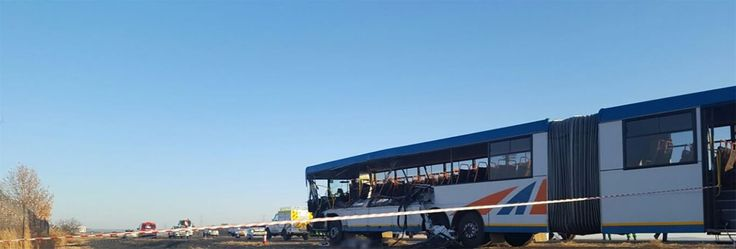 Bus rear-ends truck killing six, injuring 50 others  on the N8, approximately 15 km outside of Bloemfontein