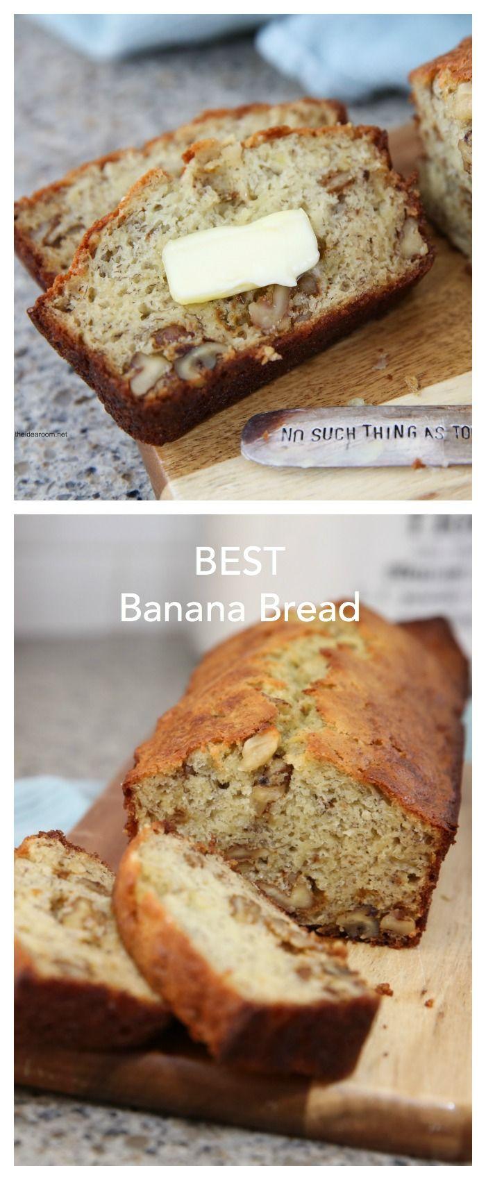 Recipes- Bread and Rolls| Best Banana Bread Recipe
