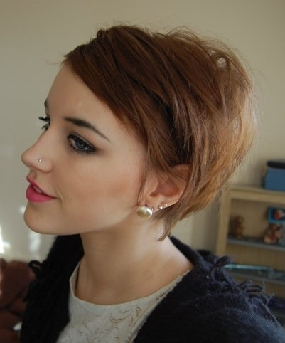 Nose piercing and cute short hair!