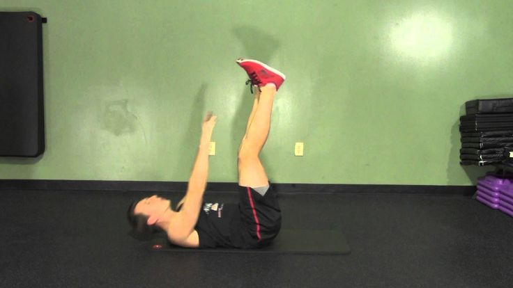 Lying Toe Touch Crunch - HASfit Abdominal Exercises - Ab Exercises - Abs...