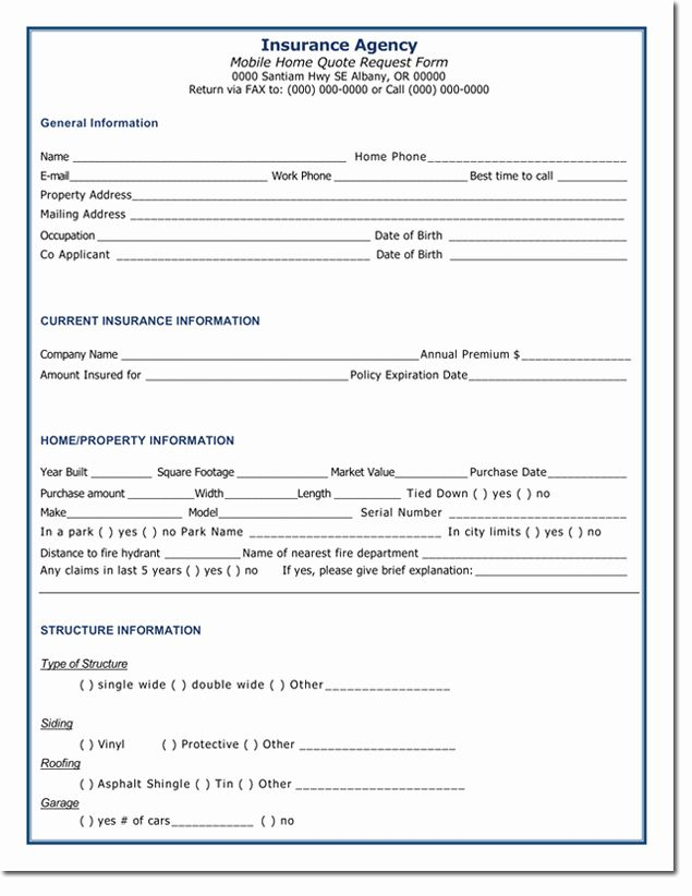 Quote Request Form Template In 2020 Home Insurance Quotes Life