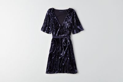 AEO Velvet Tie Dress by American Eagle Outfitters | The luxurious '90s favorite is back in a big – and easy-to-style – way. Shop the AEO Velvet Tie Dress and check out more at AE.com.