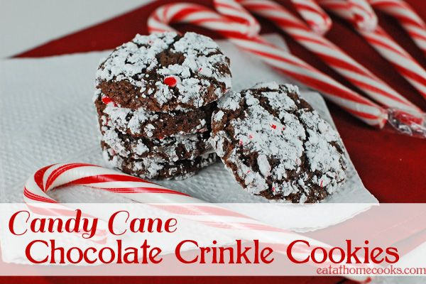 Candy Cane Chocolate Crinkle Cookies and a Pampered Chef Giveaway ...