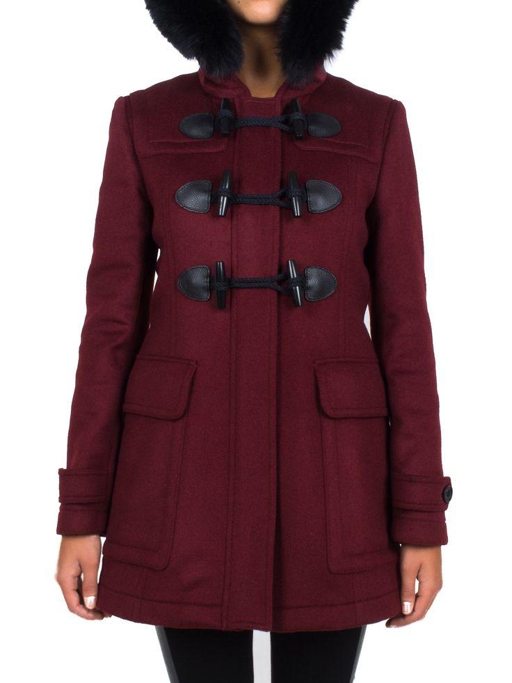 BURBERRY - Montgomery in lana con cappuccio - Bordeaux - Elsa-boutique.it #Burberry <3